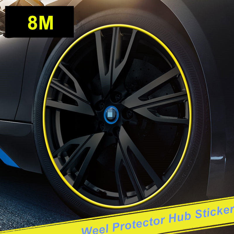 8 м Автомобильная наклейка на ступицу, декоративный Стайлинг автомобиля, лента для CX 5, CX-5, cx3, Mazda 3, mazda 6, mazda 2, аксессуары