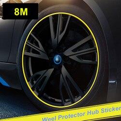 8M Car Wheel Protector Hub Sticker Car Decorative Styling Strip for CX 5 CX-5 cx3 Mazda 3 mazda 6 mazda 2 Accessories