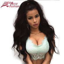 Dream Beauty Lace Wig Peruvian Non-Remy Hair Body Wave Pre Plucked Natural Hairline Lace Frontal Wigs