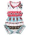 2017 nova chegada Do Bebê Meninas roupas de Algodão do bebê meninas Romper Macacão Sunsuit Outfits 0-24 M roupas de bebê Verão