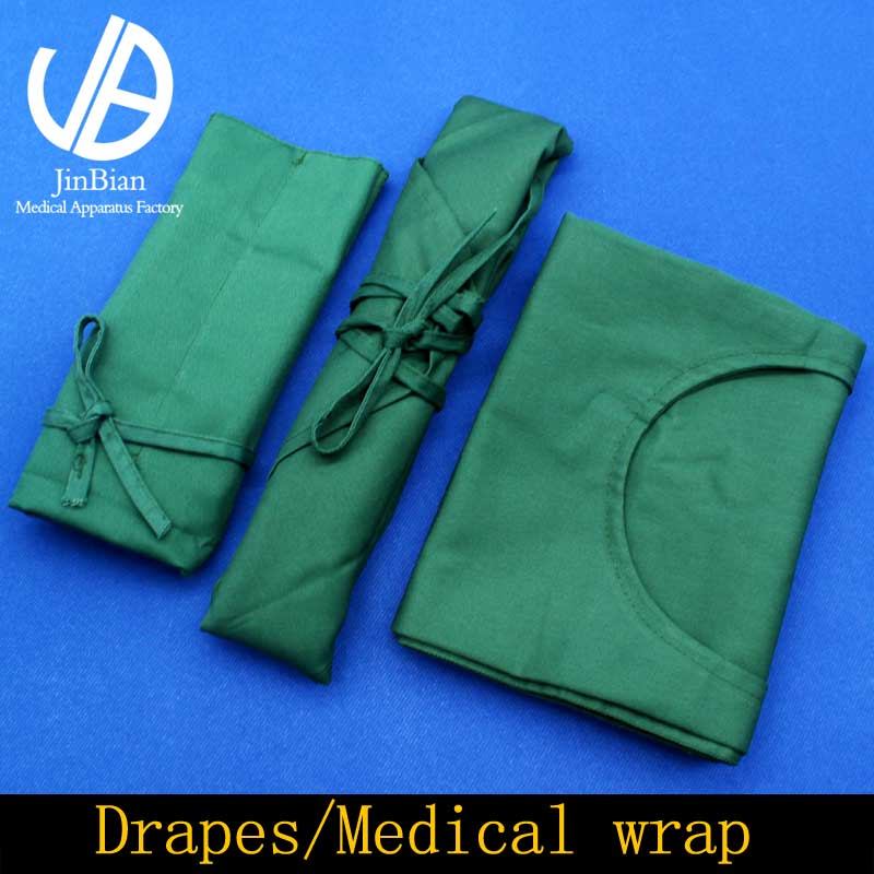 Medical Wrap Drapes Sterile Towel Surgical Instruments Covered With Cloth Cotton Cloth Green Breathable Comfort Surgical Drape