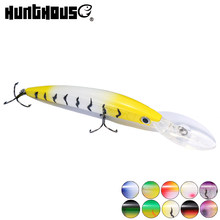 Hunthouse fishing minnow lures crystal bass minnow swimbait floating predator Japan(China)