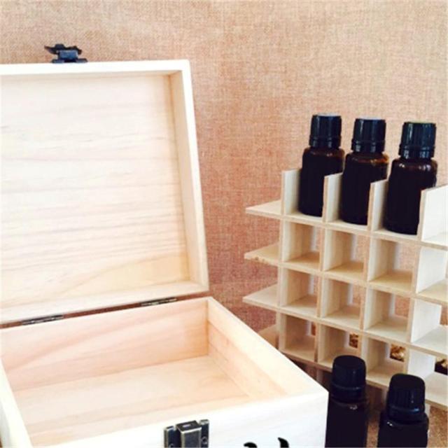 Solid Wood 25 Slot Essential Oil Storage Box 2