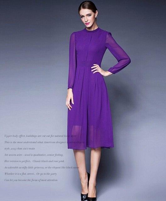 lange jurk paars
