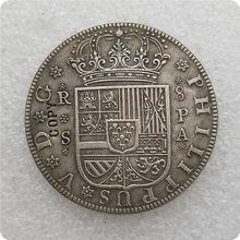 1731 espanha 8 reales moeda cópia moedas comemorativas-moedas replica moedas colecionáveis