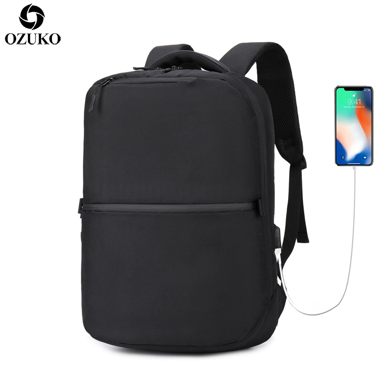 New Multifunction USB Recharging Laptop Backpack Creative Business Men Anti-thief Backpack School Bags Waterproof Travel Mochila все цены