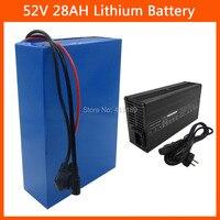 52V 28AH de litio 18650 batería 2500W 51 8 V Paquete de batería de bicicleta eléctrica uso NCR18650GA 3500MAH 50A BMS 4A cargador 30a bms 1500w battery charger 2a -