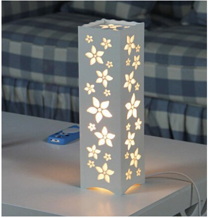 Lamparas mesa de noche decoracin de dormitorios con - Como hacer una lampara de mesa casera ...