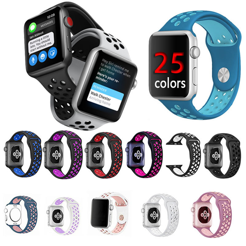 Sport Silicone Apple Watch Band For iWatch rubber wristband with 42mm 38mm Series 3 2 1 link Fashion Bracelet watches Strap mymei pokemon go pikach wristband silicone bracelet party gifts bangle cute fashion