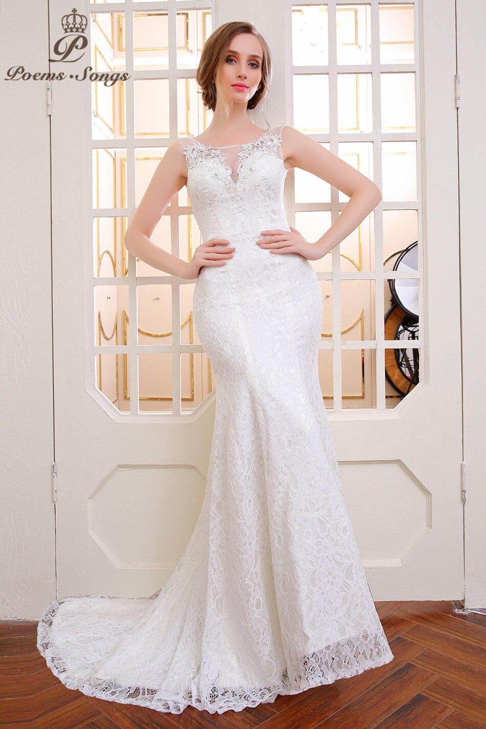 Poemssongs lace flower mermaid wedding dress 15 vestido de noiva sereia  com renda arabische abendkleider bridal dress