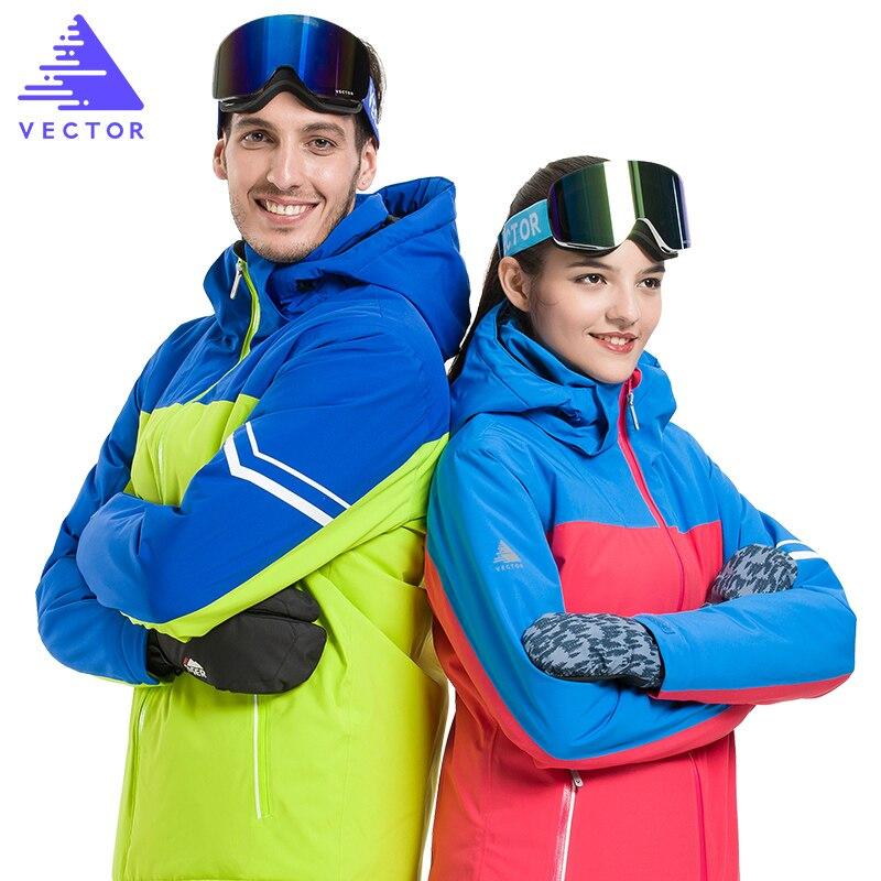 Veste synthétique de Ski Extra épaisse capuche chaude Sport de neige hommes manteau d'hiver femmes Ski Snowboard vêtements de plein air imperméable 2019 nouveau - 2