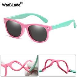WarBlade новые детские солнцезащитные очки TR90 мальчики девочки солнцезащитные очки силиконовые защитные очки подарок для детей Baby UV400 очки