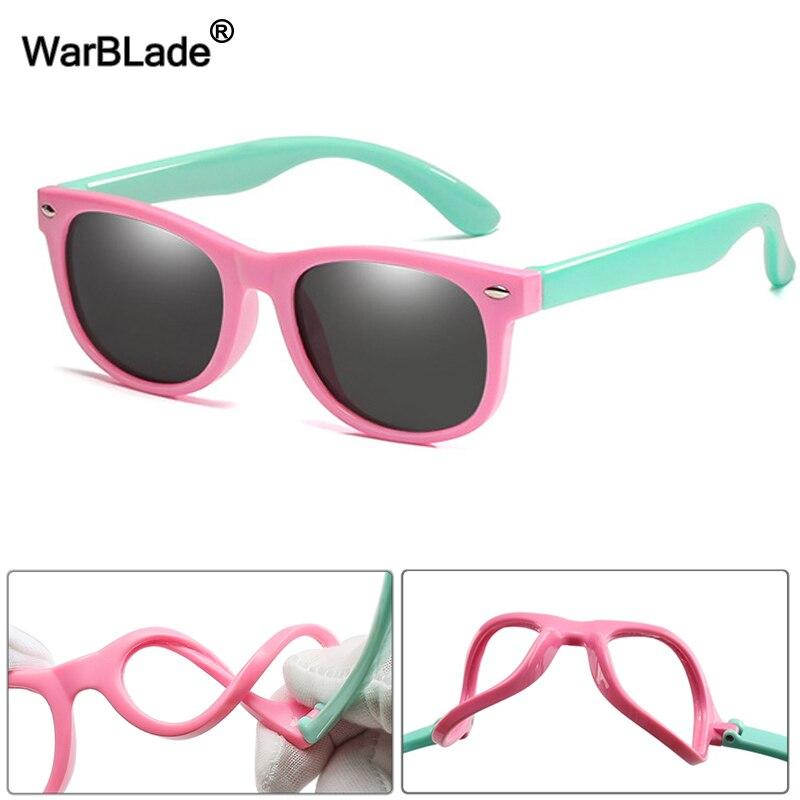 49584d989d6b2 WarBlade New Kids Óculos Polarizados TR90 Meninos Meninas Óculos de Sol  Óculos de Segurança Silicone Presente