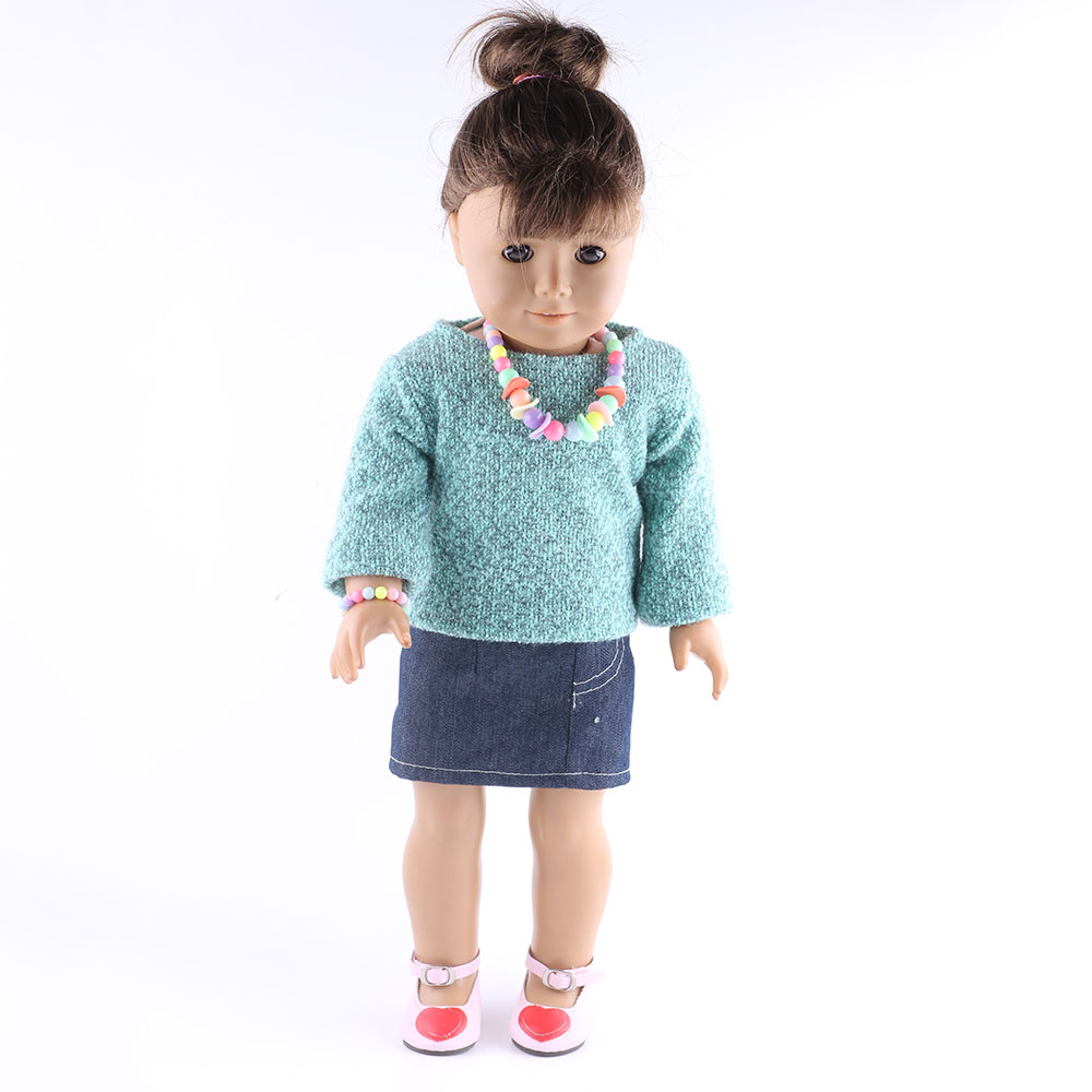 18 inch American doll green dress is suitable for the party to wear ...