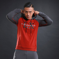 JINXIUSHIRT Cotton Long Sleeve Sport Shirt Men With Hat Running T Shirts Gym Sports Clothing Sport
