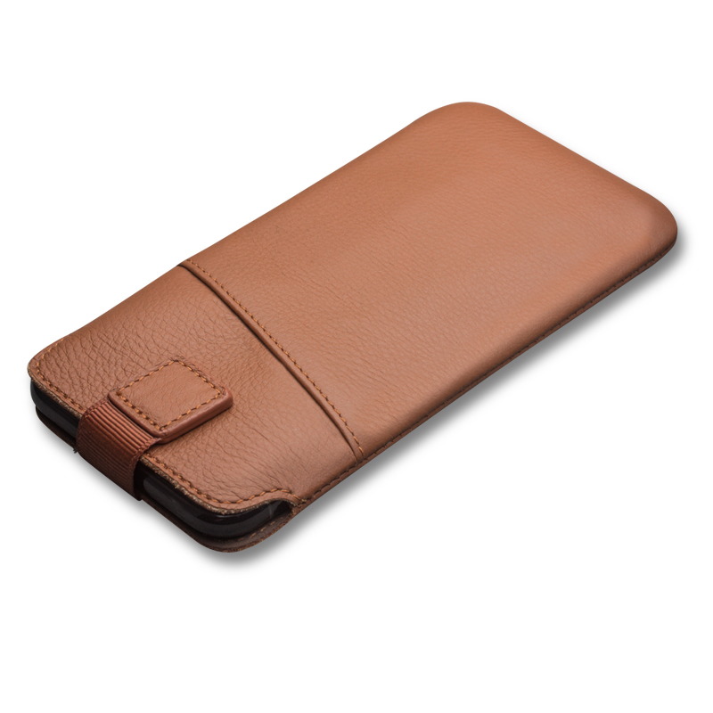 Image 2 - QIALINO Leather Bag Case for iPhone XS Luxury Genuine Leather Bag  Phone Cover for iphone X Wallet Pouch Card Slot for 5.8 inchescase  forbag casecase case