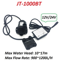 1000BT 12V 24V High Pressure 17m Max Water Head Brushless Pump 900~1200L/H Submersible Water Pump