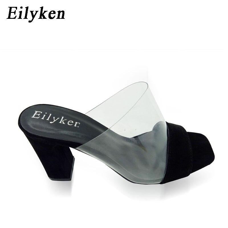 Eilyken 2019 Summer Rome Sandals Women Leisure slippers Fashion Women's Sandals Slides shoes Square heel 9.5cm