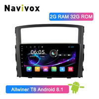 Navivox 2 Din Android 8.1 Car GPS Player for Mitsubishi Pajero V97 V93 2006 2011 Car Radio Multimedia Video Player Navigation