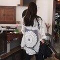 Novo 2016 Verão Mulheres Branco de Três Quartos Manga Rendas Cardigan Feminino Protetor Solar Roupas Além Disso Szie AC345