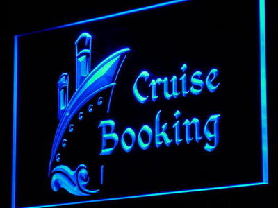 i956 Cruise Booking Travel Agency NEW Decor Neon Light Sign On/Off Swtich 20+ Colors 5 Sizes