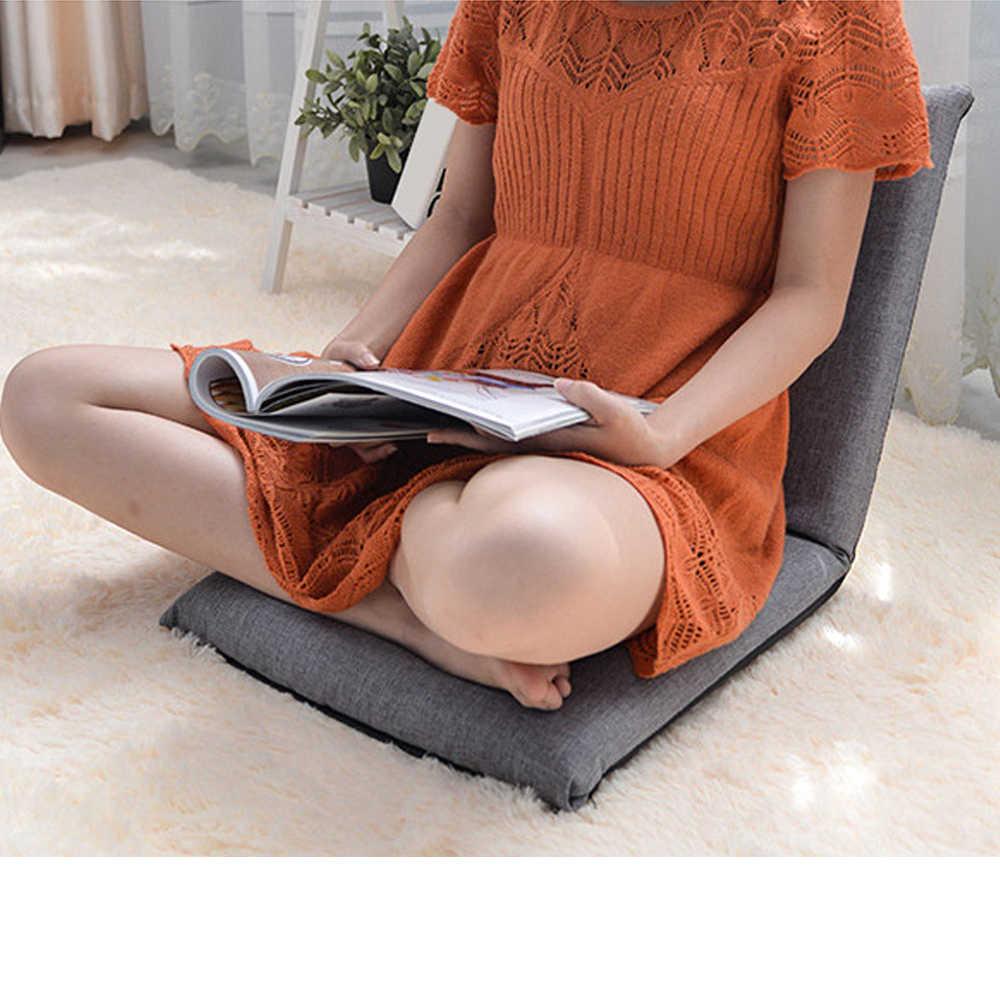 Cadeira dobrável Piso Ajustável Relaxante Preguiçoso Almofada Assento Do Sofá Espreguiçadeira