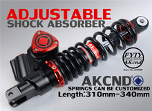 AKCND Universal 310mm 340mm 12 5 Motorcycle shock absorber Rear shock absorber For YAMAHA AEROX NMAX
