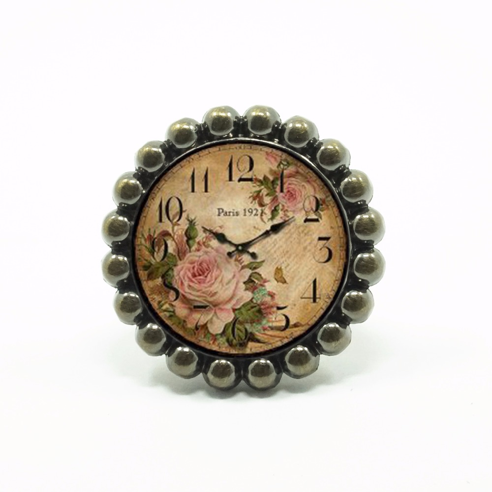 Kitchen Cabinet Pulls Glass Dresser Knobs Or Antique: Flower Watch Knob Glass Drawer Knobs Dresser Knob Pulls
