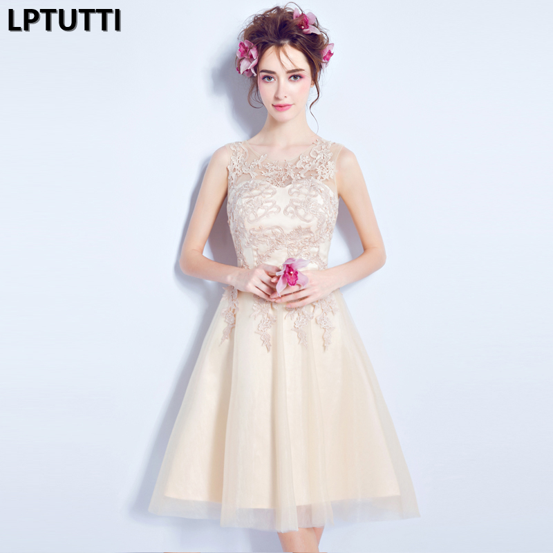 LPTUTTI Lace Embroidery New Sexy Woman Social Festive Elegant Formal Prom Party Gowns Fancy Short Luxury   Cocktail     Dresses