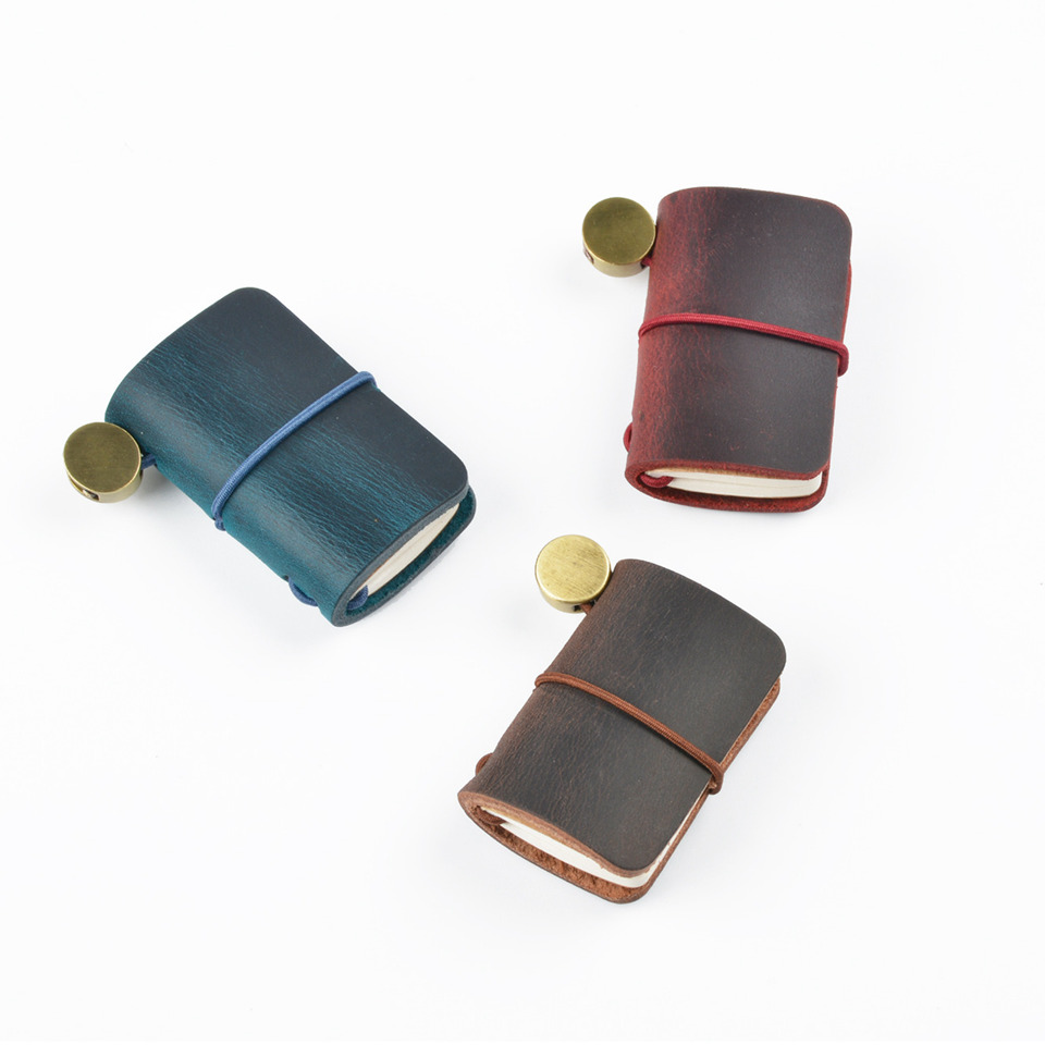 Mini Genunie Leather Traveler Notebook Accessory Can Be Written & Pendant For TN Diary Journal