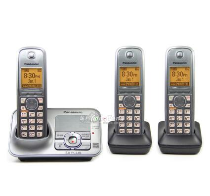 New Arrival KX-TG4131M DECT 6.0 Plus Cordless Telephone with Digital Answering System Home Phone Set, 3 Handsets