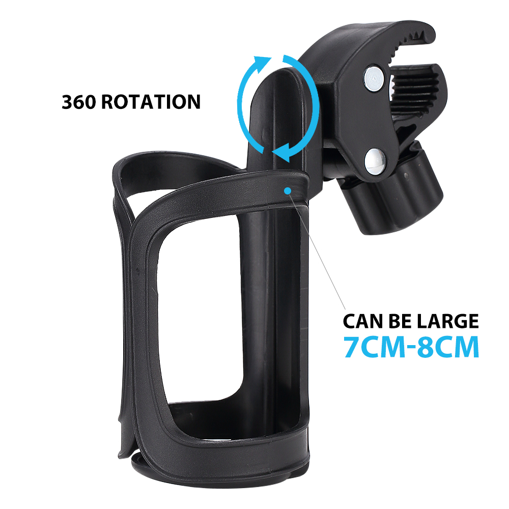 360 Rotatable Baby Stroller Bottle Holder Rack Drink Holder Bicycle Bike Wheelchair Motorcycle Water Cup Holder Car Styling feu led tmax 530