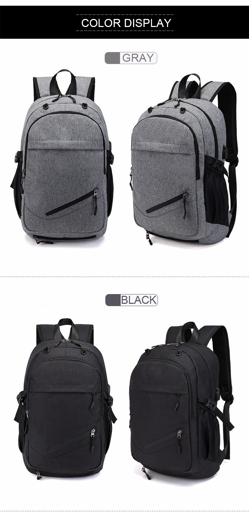 Travel Backpack Student Backpacks Laptop Notebook Back Pack Men Male Waterproof Bagpack USB Charging School Bags For Teenagers (10)
