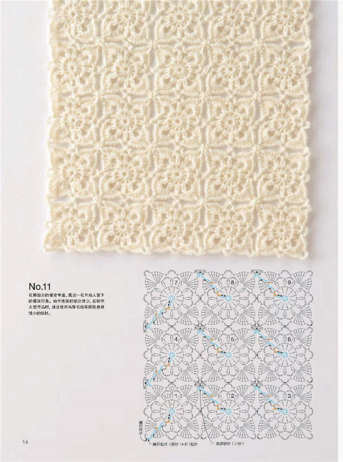 New 2pcs Continuous Crochet Motifs Selected Works Of New Edition