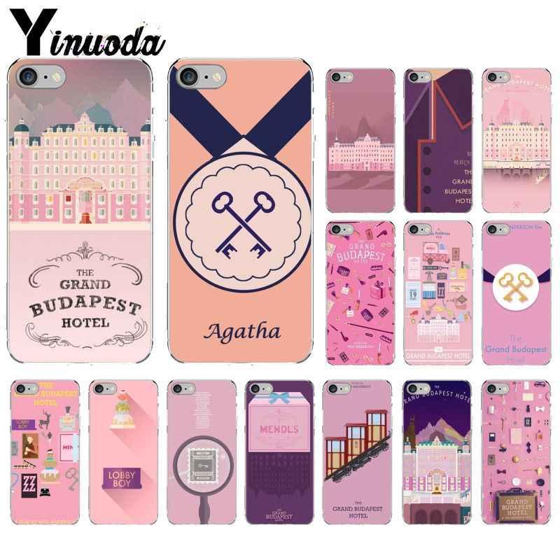 Yinuoda Wes Grand Budapest Hotel Novelty Fundas โทรศัพท์กรณีสำหรับ iphone ของ Apple iphone 8 7 6 6 S Plus X XS MAX 5 5 S SE XR ฝาครอบ
