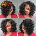 Glueless Full Lace Wig Virgin Hair Lace Front Wig Bob Curly Short Human Hair Lace Wig Full Lace Human Hair Wigs With Baby Hair