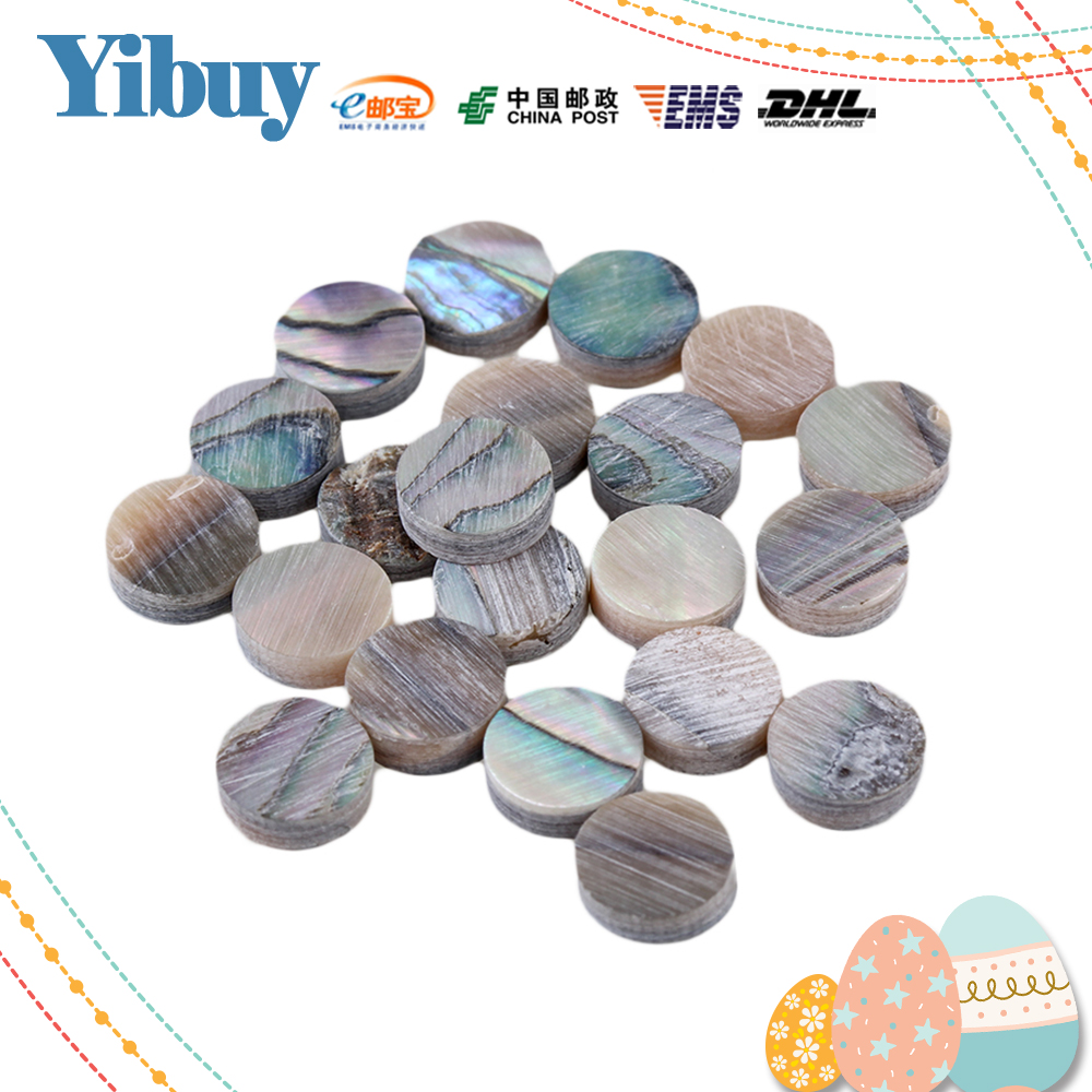 Yibuy 6mm Green Abalone Mother of Pearl Shell Fingerboard Dots with Inlay Material For Guitar Pack of 20 цена 2016
