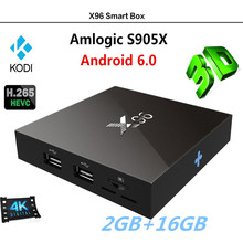 X96 S905X Quad-Core Network TV Box Android 6.0 TV BOX 4K 1080p HD Dual WIFI 3.0USB Media Player AH-LINK IPTV Smart Box 2GB+16GB