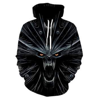 3D Printed Black Devil Hoodies