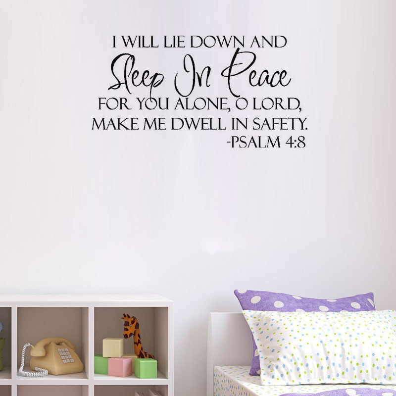 Wall Sticker Sleep In Peace Verse