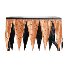 Треугольная двухцветная тематическая вечеринка Хэллоуин стол плинтус скатерть Крытый Хэллоуин украшения для дома товары для дома