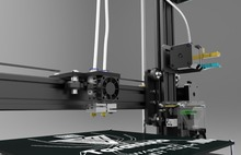 Двойной Экструдер Тарантул I3 Алюминиевый комплект 3D Принтер 3d принтер 2 Рулона Нити 8 ГБ SD card ЖК-Как подарок