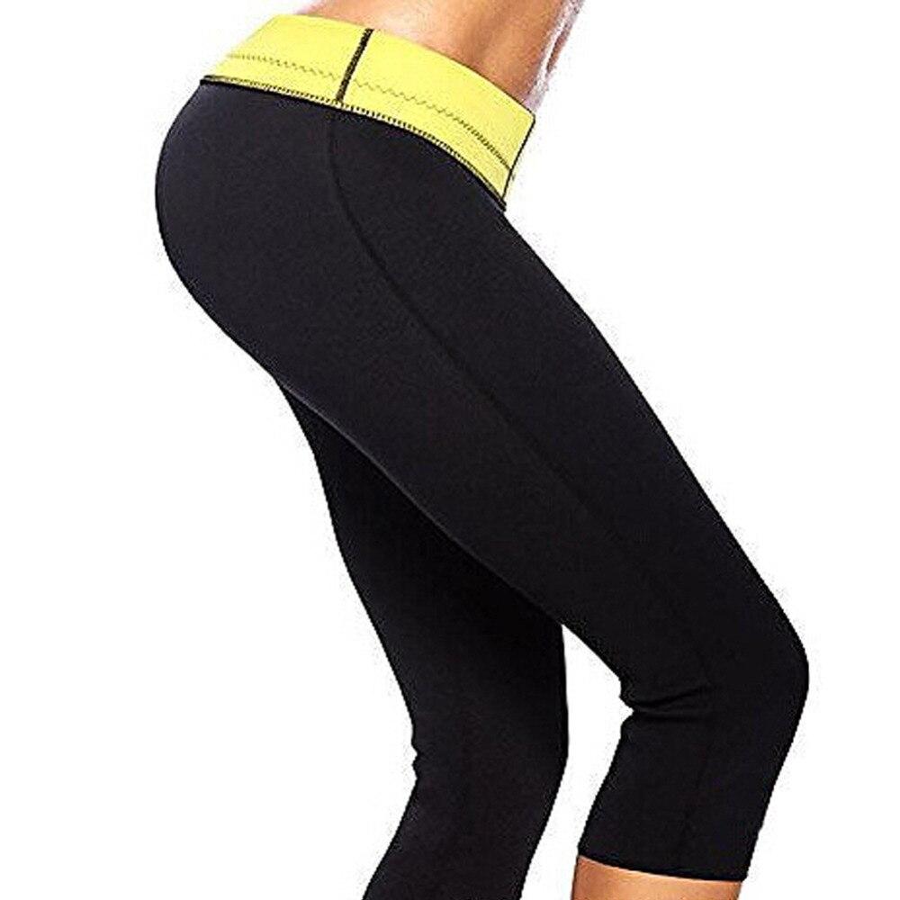 FeelinGirl Super Black Neoprene Stretch Sports Pants Women Slimming Control Panties Fitness Workeout Shapers Women Shapewear -C strength training