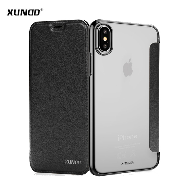 best sneakers dbd04 2f78f US $9.59 30% OFF|For iPhone X phone capa Xundd brand Luxury ultra thin pu  flip cover case for iPhone X Case 5.8