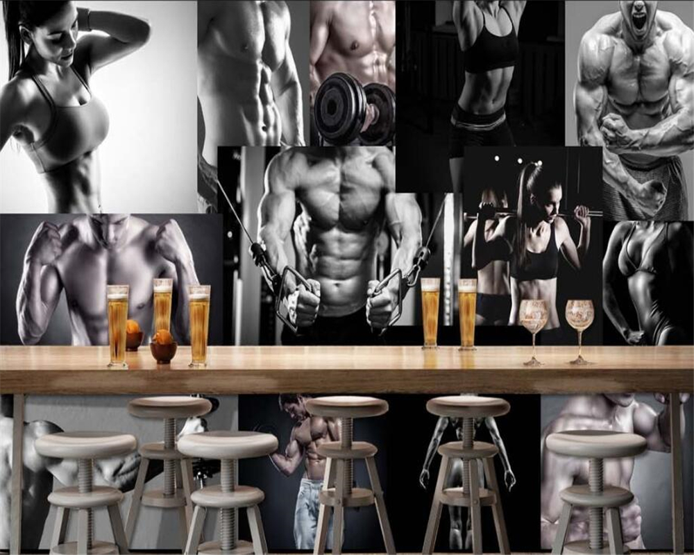 Sports Wallpapers Gym: Beibehang HD Fashion Senior Indoor Wallpaper Sports Gym