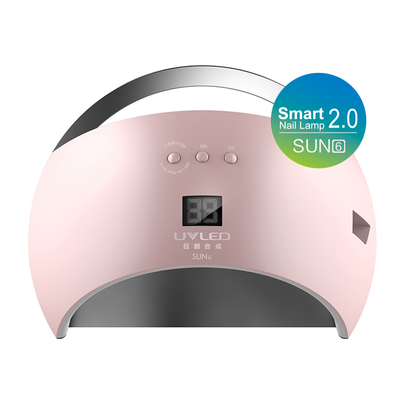 48W SUN6 Nail Dryer New Style Portable UV Lamp For Drying Unique Low Heat Model Double Power Fast Manicure Colorful Lamp shanghai kuaiqin kq 5 multifunctional shoes dryer w deodorization sterilization drying warmth
