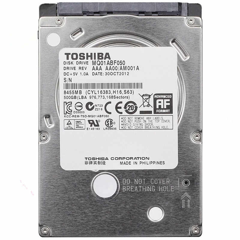 Toshiba 500 GB HDD 2,5 Sata para Laptop 2,5 Sata disco duro interno 500 GB Disco Duro Hardisk HD 7200RPM envío gratis