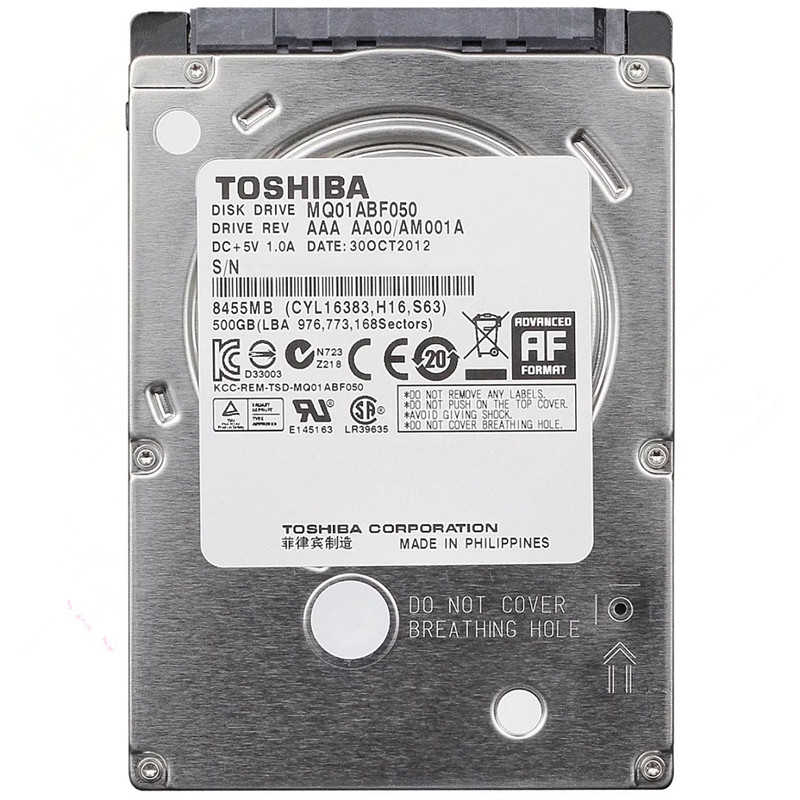 Toshiba 500GB HDD 2.5 Sata for Laptop 2.5 Sata Internal Hard Drive Hard Drive 500 GB Hard Disk Hardisk HD 7200RPM Free Shipping image