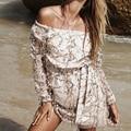 Macacão Verão de Slash Neck Ouro Lantejoulas Brilhante Elegante Borla Strapless Jumpsuits Rompers Womens Jumpsuit Bodysuit Macacão