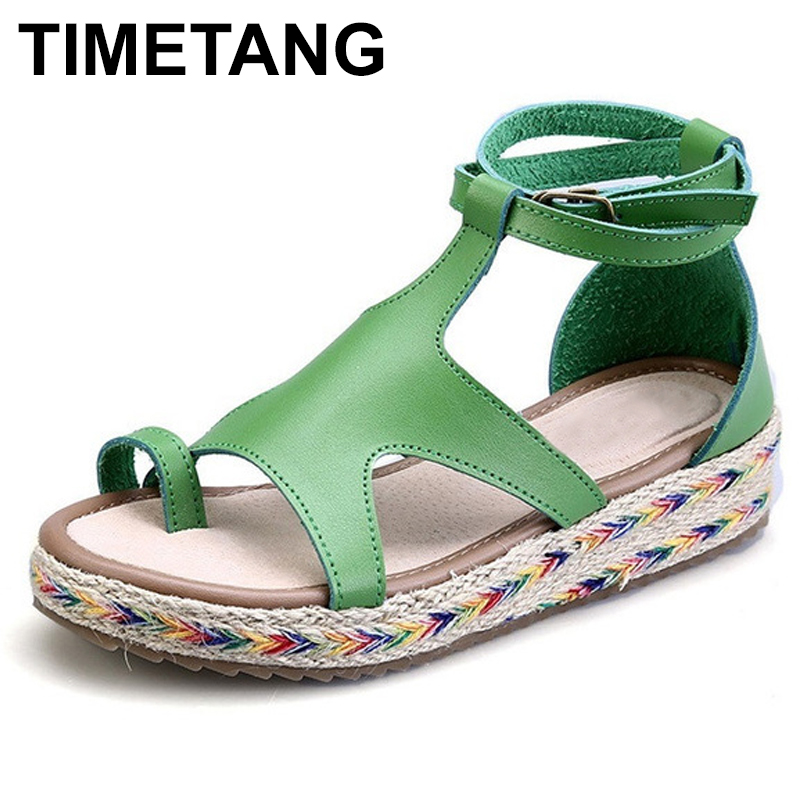 TIMETANG  New  Bohemia Fashion Gladiator Sandals Summer Wedges Platform Sandals Women ladies Shoes Woman Beach Girls Sandal women sandals 2017 summer shoes woman wedges fashion gladiator platform female slides ladies casual shoes flat comfortable